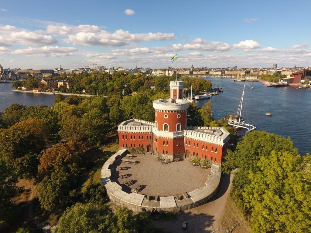 Medeltida borggård på Kastellet Stockholm