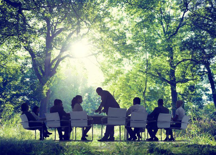 konferens i naturen