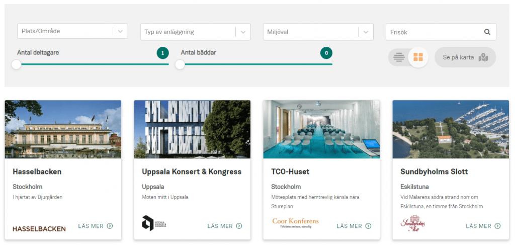Hitta konferens sökfunktion konferensanläggningar