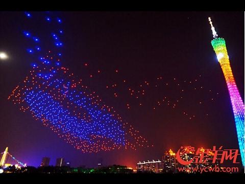 Drönare på Lantern Festival i Kina